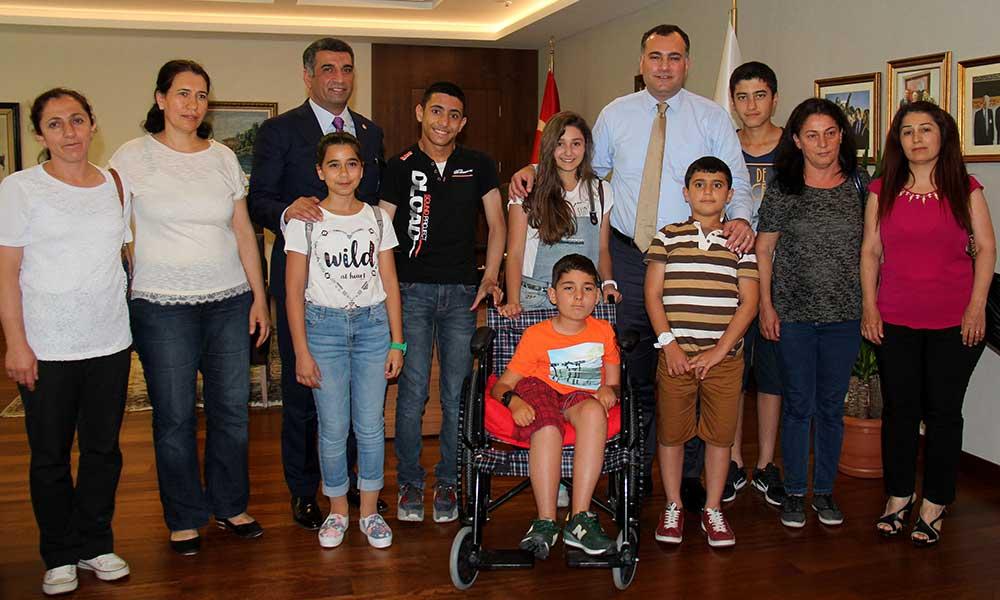 TEOG Birincilerinden Başkan Taşdelen'e Ziyaret