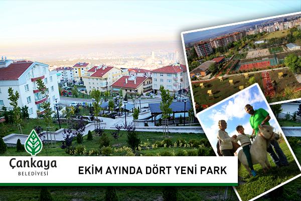 Ekim Ayında Dört Yeni Park