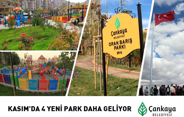 Kasım'da 4 Yeni Park Daha Geliyor