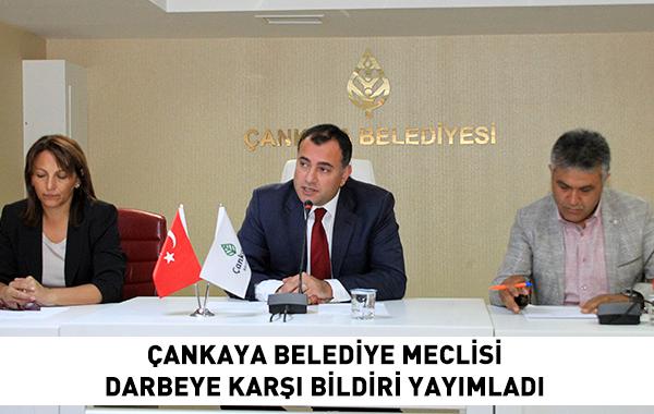 Çankaya Belediye Meclisi Darbeye Karşı Bildiri Yayımladı