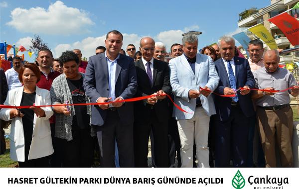 Hasret Gültekin Parkı Dünya Barış Günü'nde Açıldı