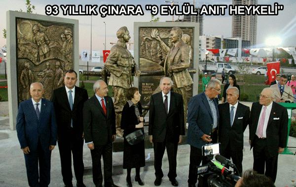 """93 Yıllık Çınara """"9 Eylül Anıt Heykeli"""""""