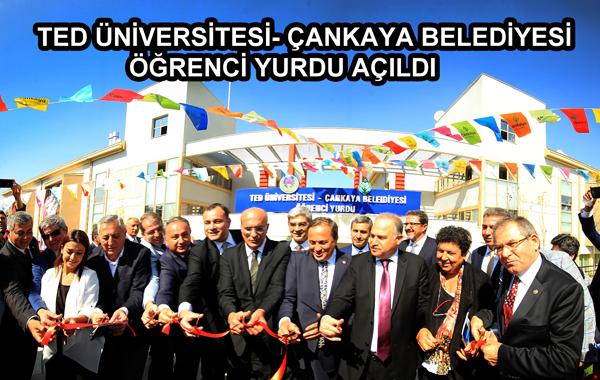 TED Üniversitesi- Çankaya Belediyesi Öğrenci Yurdu Açıldı