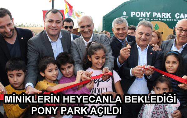 Miniklerin Heyecanla Beklediği Pony Park Açıldı