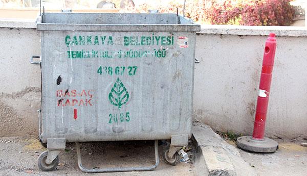 Çankaya'da Çöp Konteynerleri Sabitlendi