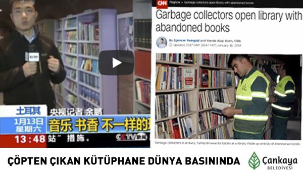 Çöpten Çıkan Kütüphane Dünya Basınında