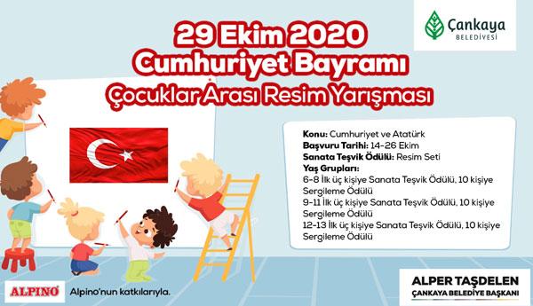 """Çankaya Belediyesinin """"Atatürk Ve Cumhuriyet"""" Resim Yarışmasına Katılma Süresi Uzatıldı"""